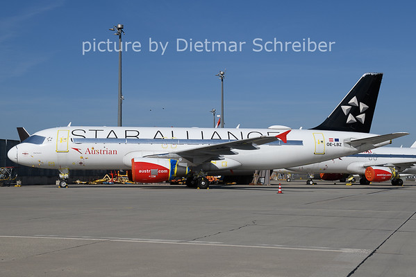 2021-03-30 OE-LBZ Airbus A320 Austrian Airlines
