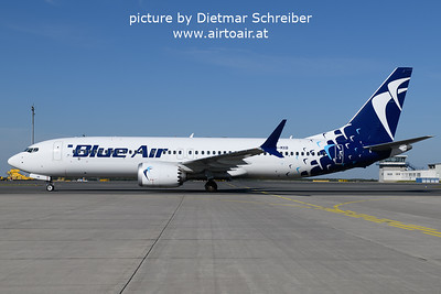 2021-09-10 YR-MXB Boeing 737-800max Blue AIr