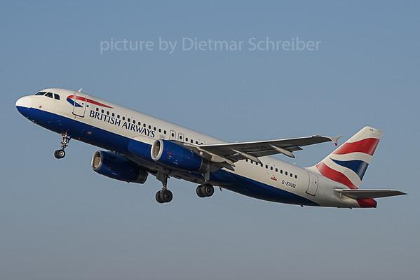 2019-11-01 G-EUUG Airbus A320 British Airways