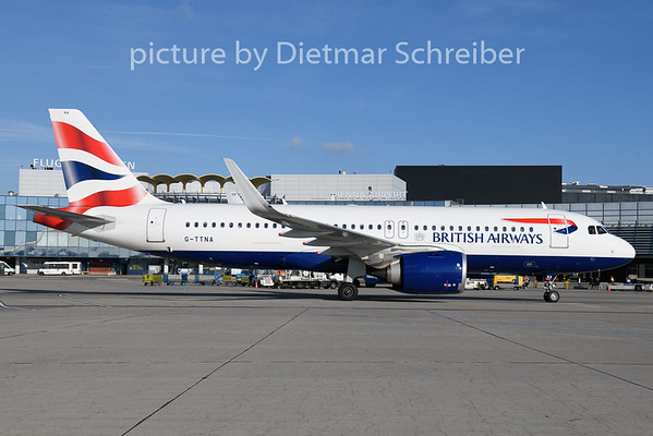 2018-11-14 G-TTNA Airbus A320neo British AIrways