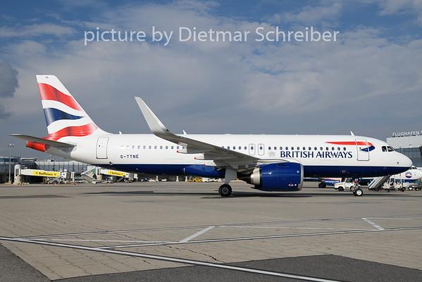 2018-10-26 G-TTNE Airbus A320neo British Airways