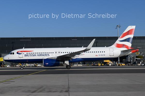 2021-01-11 G-EUYR Airbus A320 British Airways