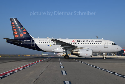 2019-11-01 OO-SSQ Airbus A319 Brussels Airlines