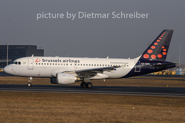 2019-01-21 OO-SSG Airbus A319 Brussels Airlines