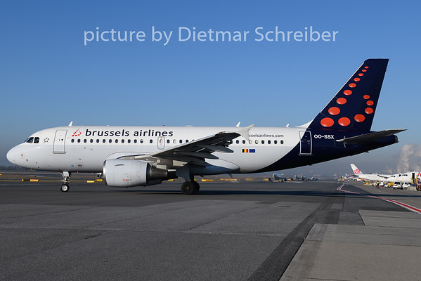 2020-01-02 OO-SSX Airbus A319 Brussels Airlines