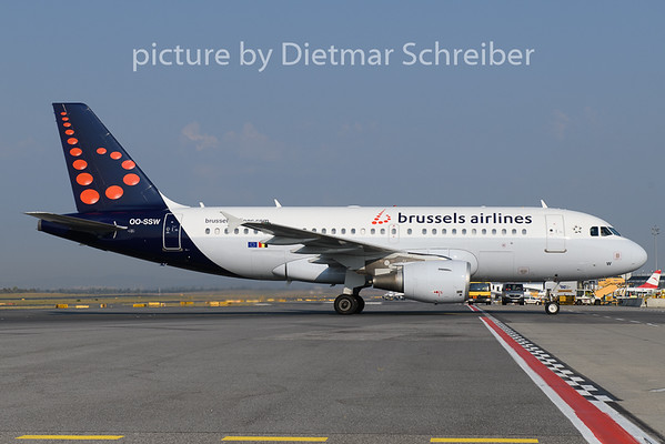 2018-08-24 OO-SSW Airbus A319 Brussels Airlines