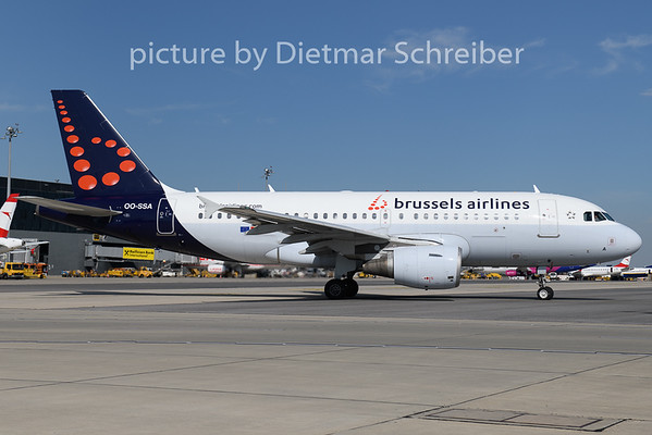 2020-07-10 OO-SSA Airbus A319 Brussels Airlines