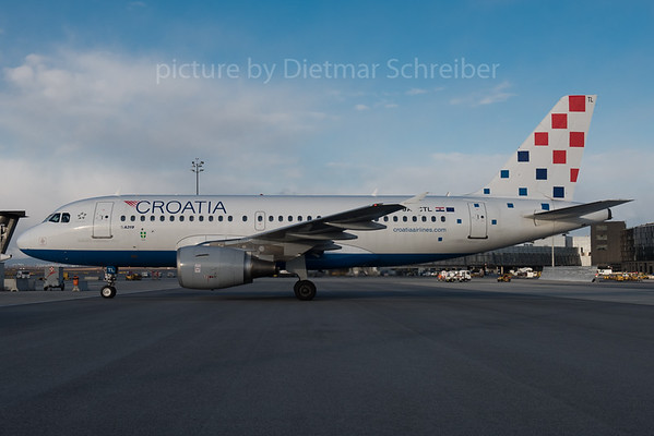 2017-01-06 9A-CTL Airbus A319 Croatia AIrlines