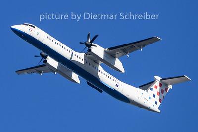 2020-01-12 9A-CQC Dash8-400 Croatia Airlines