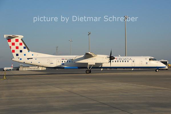 2014-04-16 9A-CQA Dash8-400 Croatia AIrlines