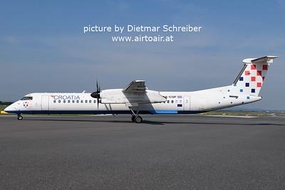 2021-05-22 9A-CQF Dash8-400 Croatia AIrlines