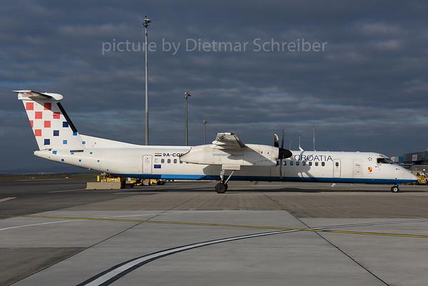 2017-11-14 9A-CQE Dash 8-400 Croatia AIrlines