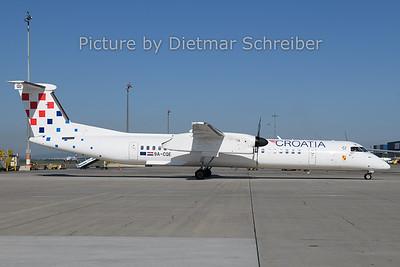 2019-04-22 9A-CQE Dash 8-400 Croatia Airlines