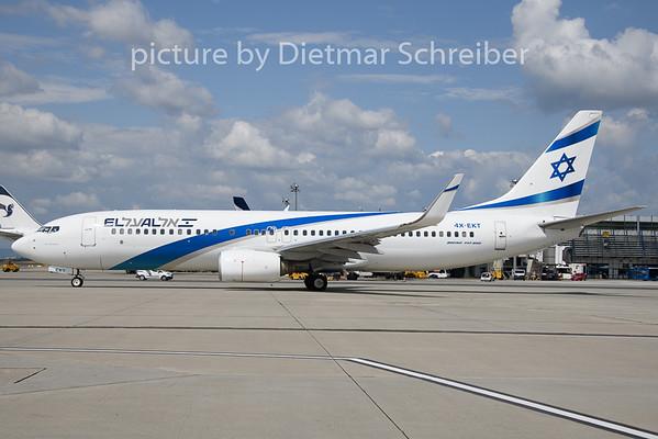 2019-08-14 4X-EKT Boeing 737-800 El Al