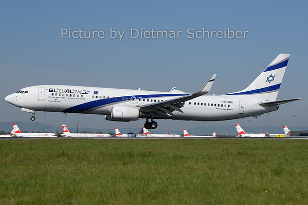 2019-04-22 4X-EHE Boeing 737-900 El Al