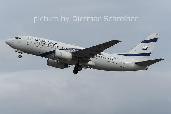 2014-12-08 4X-EKE Boeing 737-700 El Al Israel Airlines