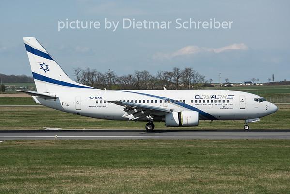 2015-04-13 4X-EKE Boeing 737-700 El Al