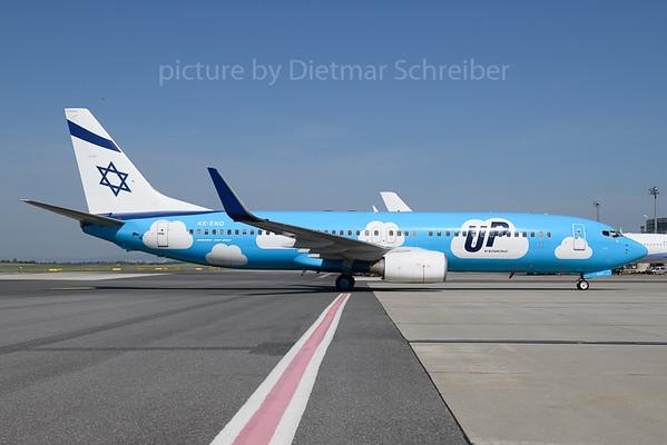 2018-05-31 4X-EKO Boeing 737-800 El Al / UP