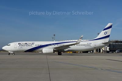 2016-10-31 4X-EHD Boeing 737-900 El Al