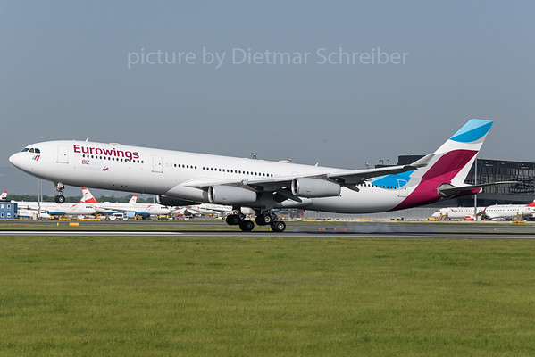 2018-04-29 OO-SCX Airbus A340-300 Eurowings