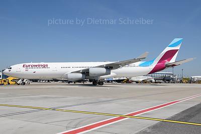2018-04-19 OO-SCW Airbus A340-300 Eurowings