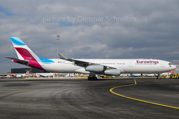 2018-03-21 OO-SCW Airbus A340-300 Eurowings
