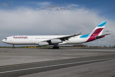 2018-04-10 OO-SCW Airbus A340-300 Eurowings