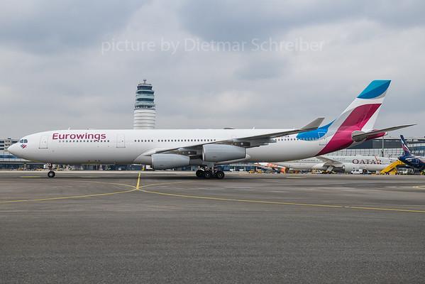 2018-03-20 OO-SCW Airbus A340-300 Eurowings