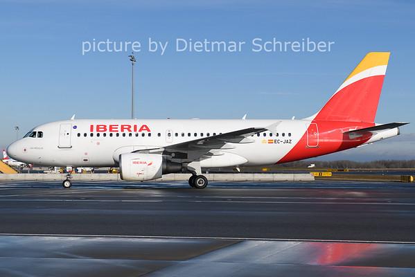 2021-01-24 EC-JAZ Airbus A319 Iberia