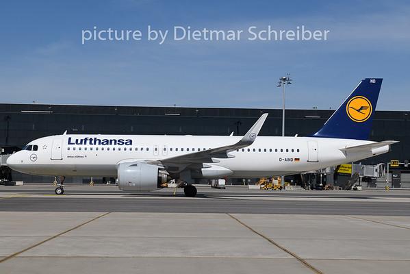 2020-04-16 D-AIND Airbus A320neo Lufthansa