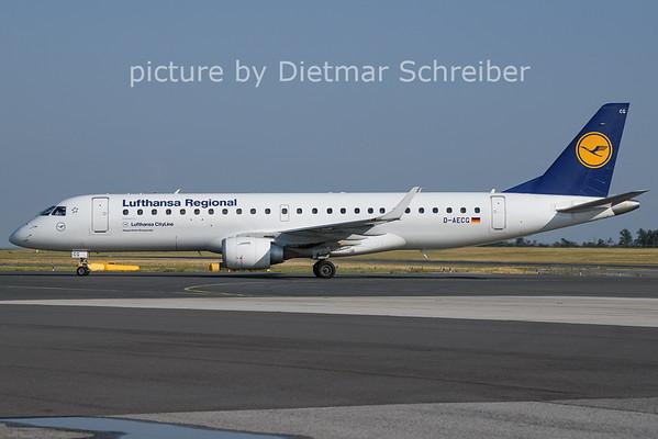 2021-07-14 D-AECG Embraer 190 Lufthansa Regional