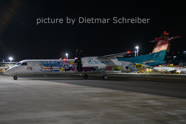 2021-01-22 LX-LQA Dash8-400 Luxair