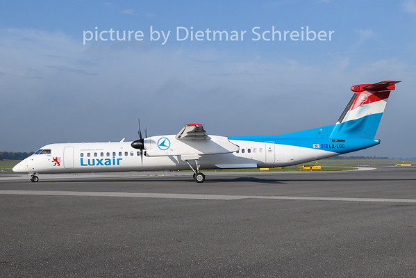 2020-10-02 LX-LGG Dash8-400 Luxair