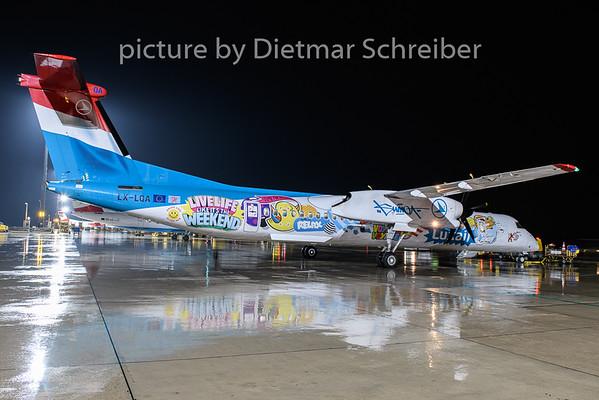 2020-10-15 LX-LQA Dash8-400 Luxair