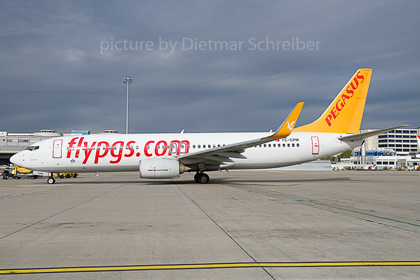 2019-10-08 TC-CPM Boeing 737-800 Pegasus Airlines