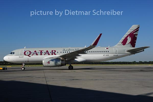 2014-06-18 A7-AHX Airbus A320 Qatar Airways