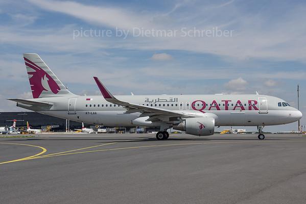 2017-07-21 A7-LAA Airbus A320 Qatar Airways