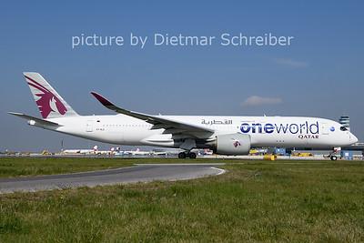 2021-04-27 A7-ALZ Airbus A350-900 Qatar Airways