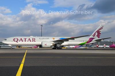 2021-01-26 A7-BAX Boeing 777-300 Qatar Airways