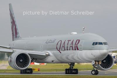 2020-10-21 A7-BAQ Boeing 777-300 Qatar Airways