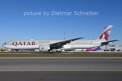 2020-11-18 A7-BAK Boeing 777-300 Qatar Airways