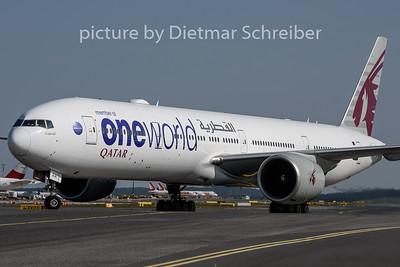 2020-09-20 A7-BAA Boeing 777-300 Qatar Airways