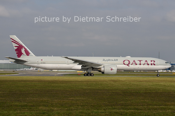 2020-10-21 A7-BAQ Boeing 777-300 Qatar Airways