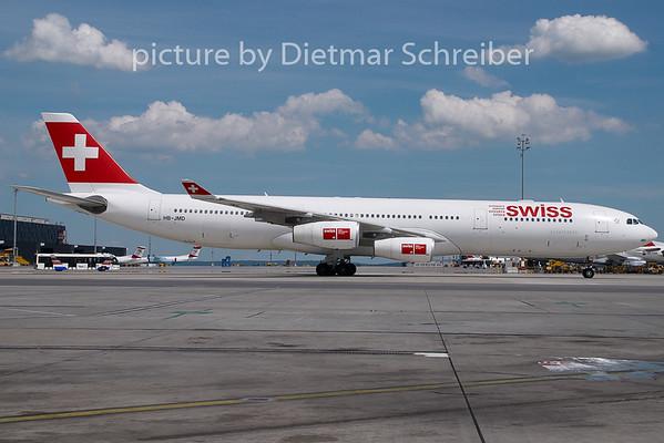 2008-06-21 HB-JMD Airbus A340-300 Swiss