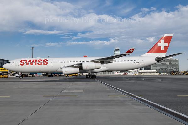 2018-04-09 HB-JMD Airus A340-300 Swiss
