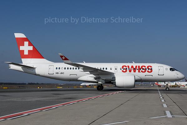 2017-03-08 HB-JBC Bombardier CS100 Swiss