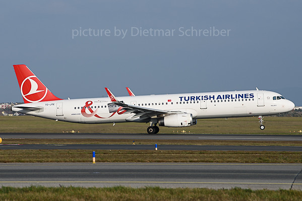 2019-11-01 TC-JTE Airbus A321 Turkish Airlines