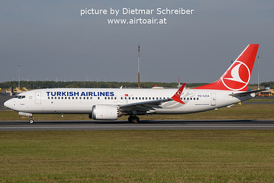 2021-10-17 TC-LCA Boeing 737-MAX8 THY