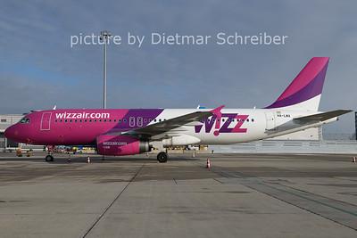 2021-01-08 HA-LWA Airbus A320 Wizzair