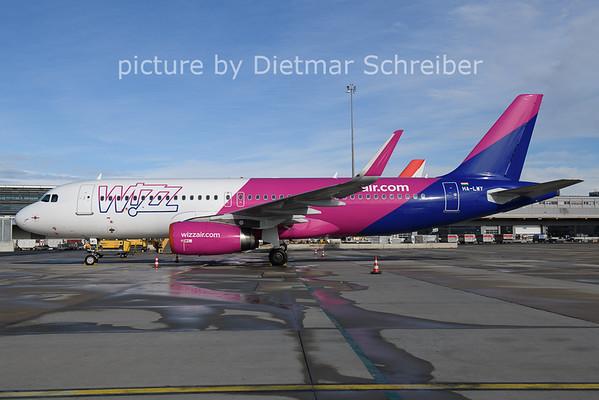 2021-01-22 HA-LWY Airbus A320 Wizzair